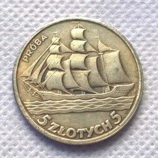 5 złotych pln moneta 1936