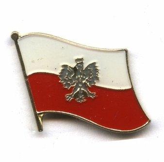 Metalowe przypinki z polską flagą