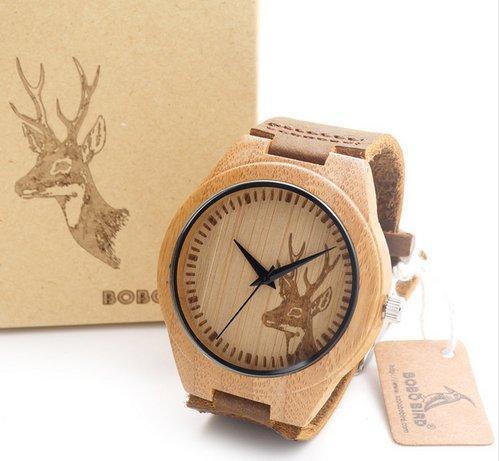 zegarek bambus