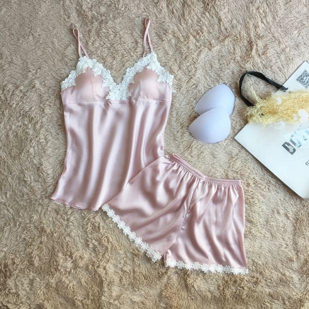 satynowa piżama aliexpress