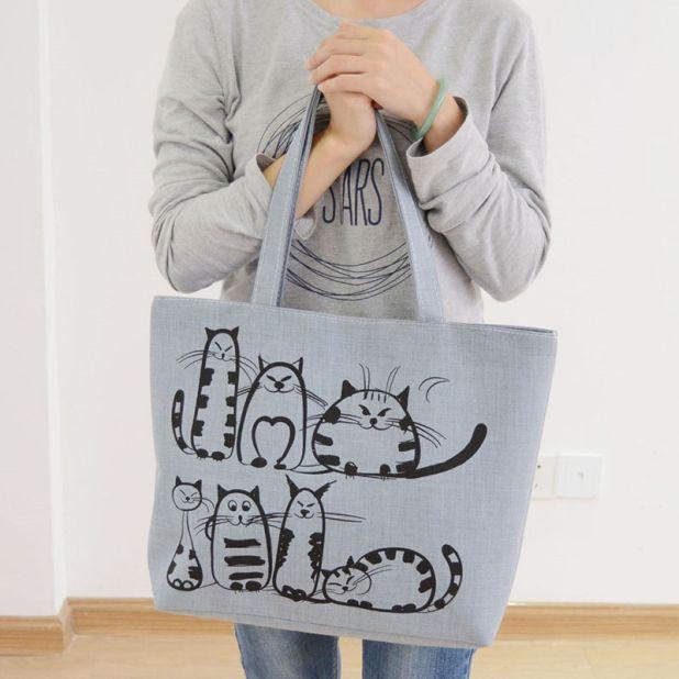 torba shoppingowa kot