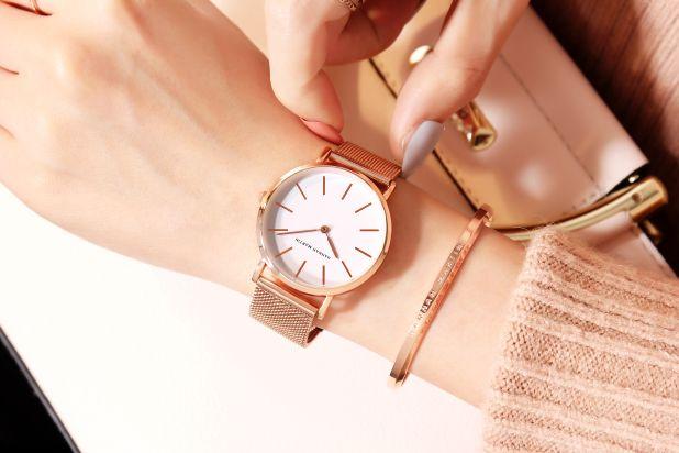 złoty zegarek japan style
