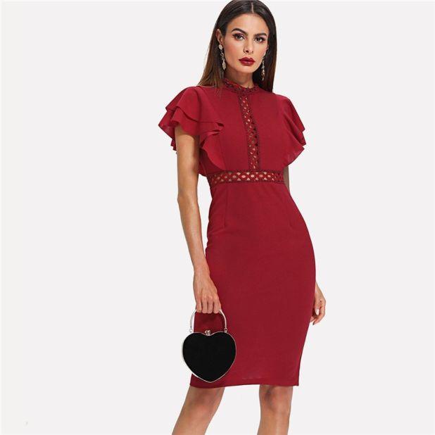 Sukienka Kusząca Czerwień