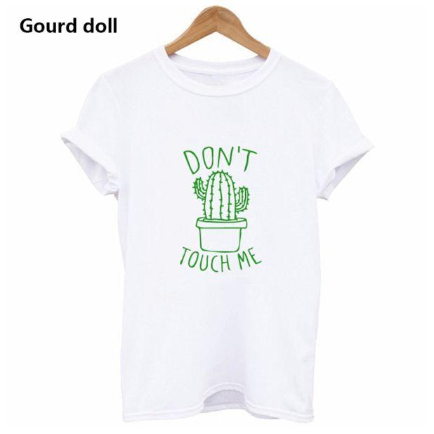 koszulka dont touch me kaktus