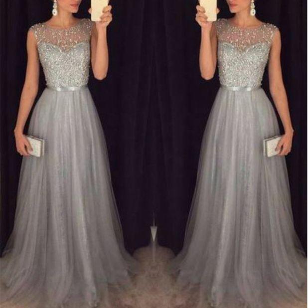 srebrna sukienka studniówka