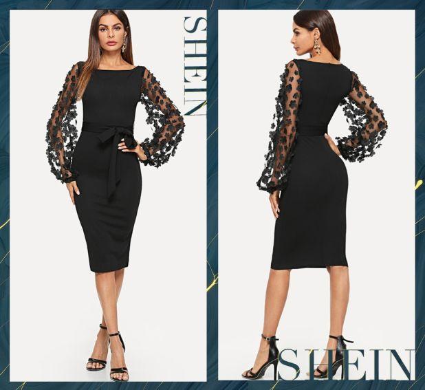 sukienka klasyczna czerń