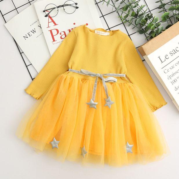 sukienka zółta gwiazdka aliexpress