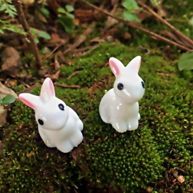 figurki małe zajączki aliexpress