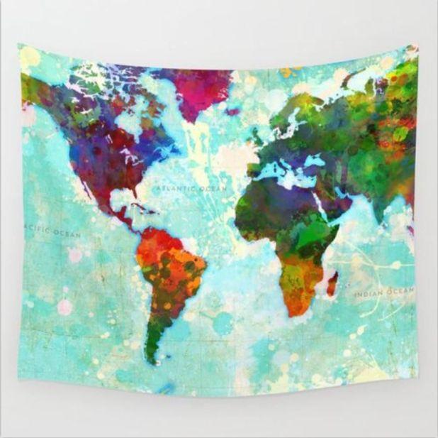 gobelin 3d mapa świata aliexpress