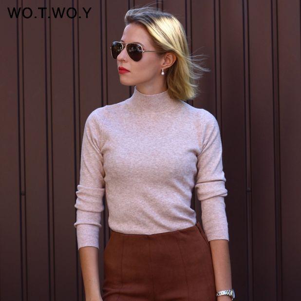 kaszmirowy sweter z golfem aliexpress