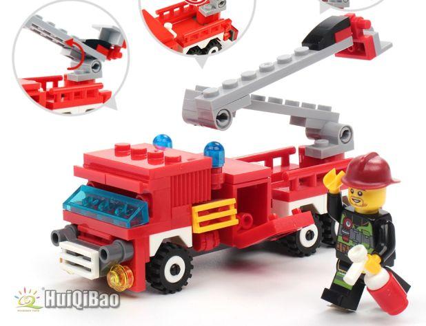 klocki wóz strażacki