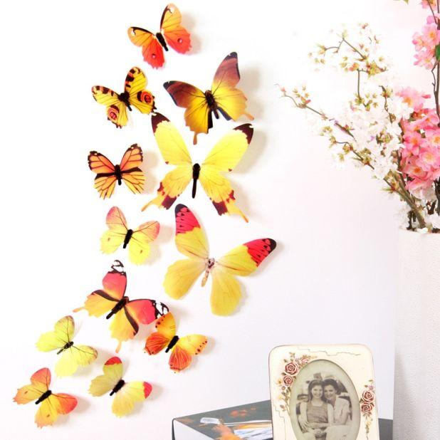 kolorowe motyle na ścianę aliexpress