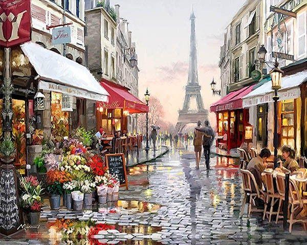 malowanie po numerach paryska ulica