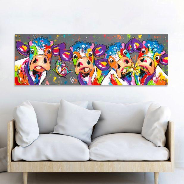 obraz kolorowe krowy aliexpress