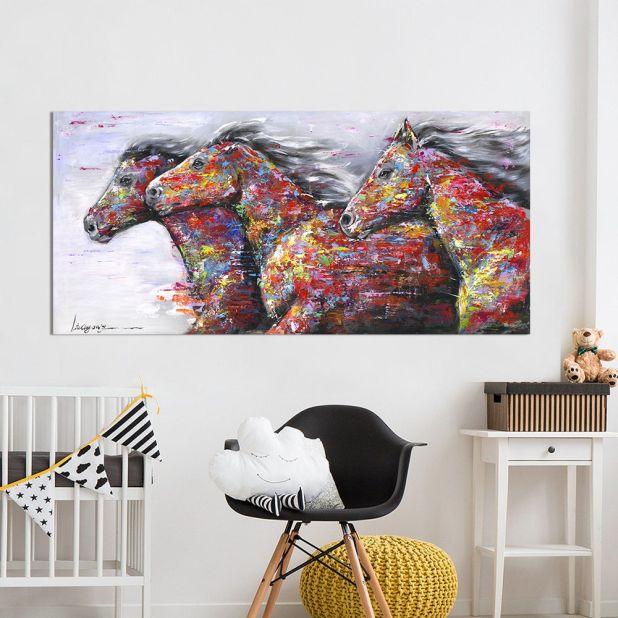 obraz konie w galopie aliexpress