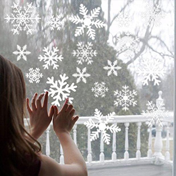 płatki śniegu naklejki aliexpress