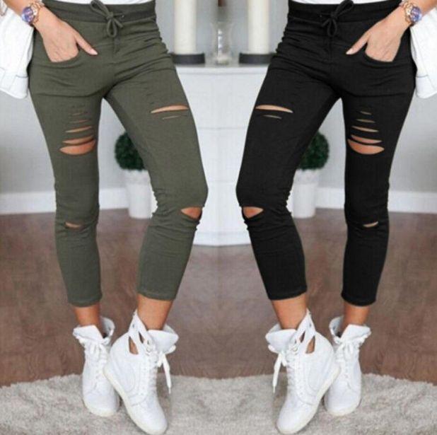 aliexpress jeansy z dziurami