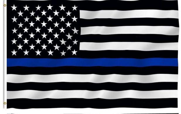 flaga policyjna niebieska linia aliexpress