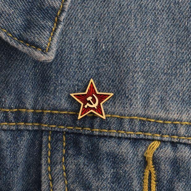 przypinka czerwona gwiazda aliexpress