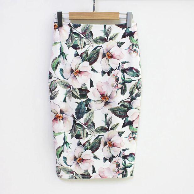 spódnica w kwiaty aliexpress