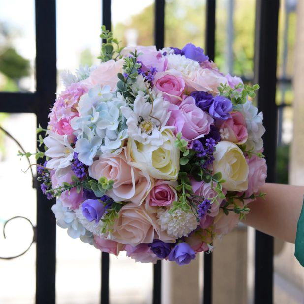 aliexpress ślubny bukiet kwiatów