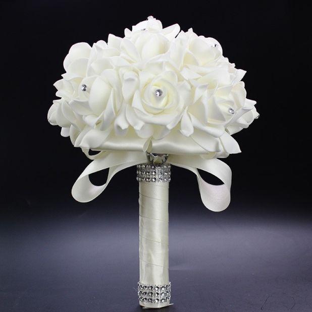 aliexpress bukiet białych róż
