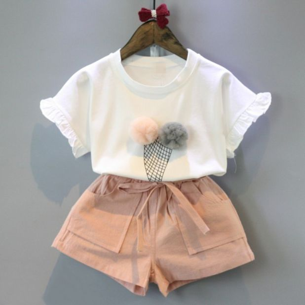 aliexpress dwuczęściowy zestaw ubrań dla dziewczynki