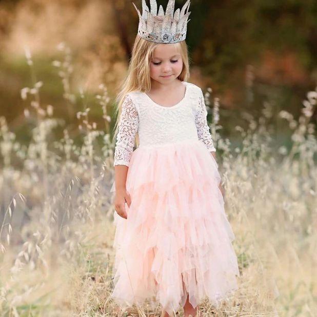 aliexpress letnia sukienka z koronką dla dzieci