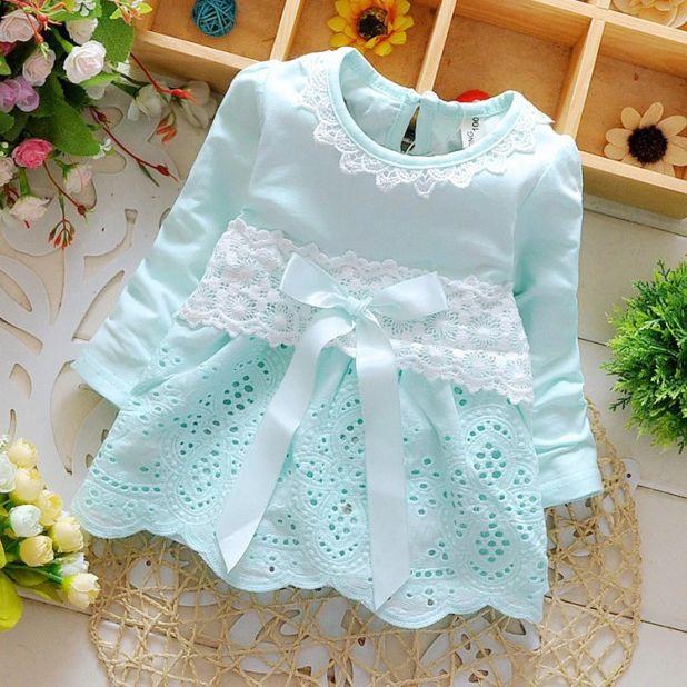 aliexpress sukienka dla niemowląt z koronki